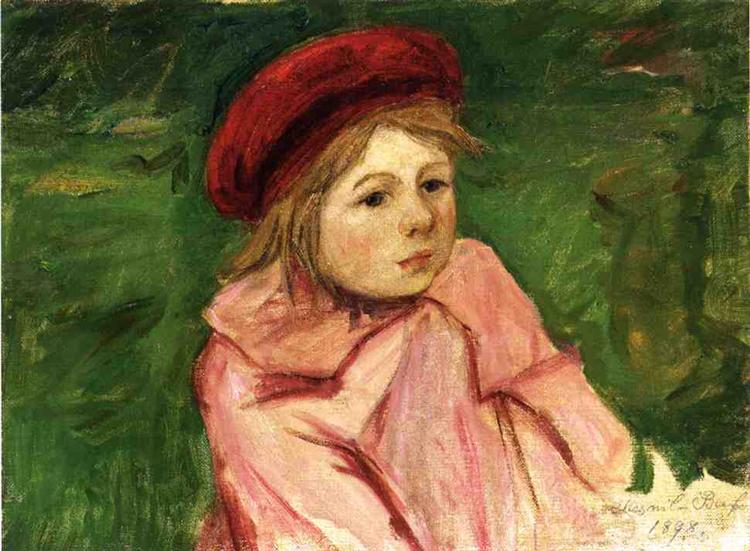 Little Girl in a Red Beret, 1898 - Mary Cassatt