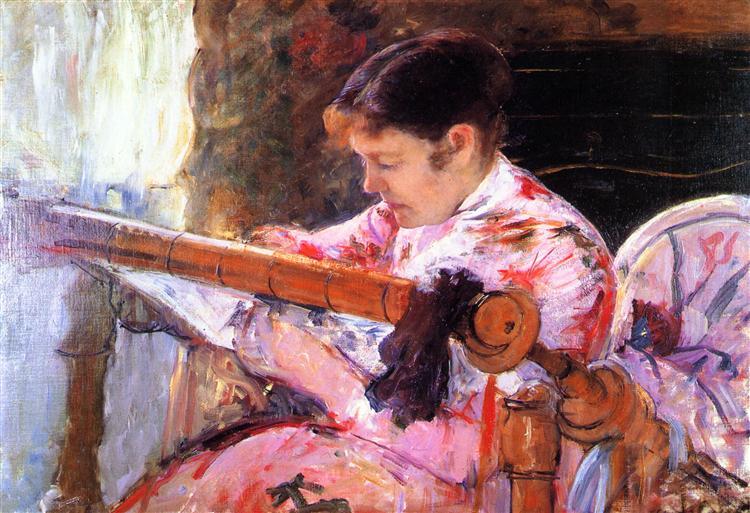 Lydia at the Tapestry Loom, 1880 - 1881 - Mary Cassatt
