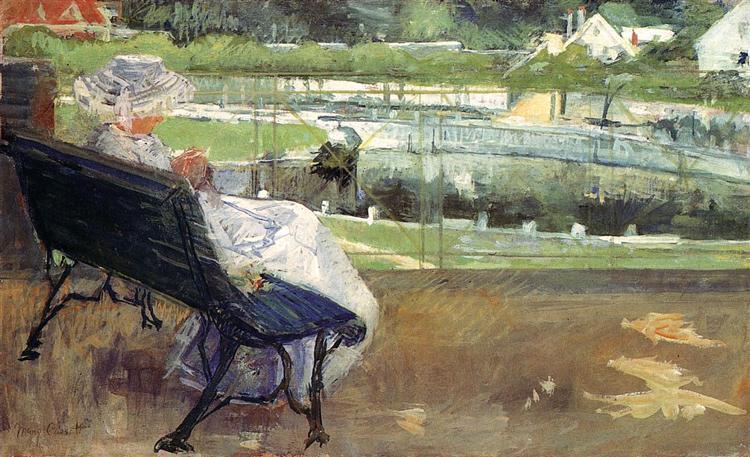 Lydia Sitting on a Porch, Crocheting, 1881 - 1882 - Mary Cassatt