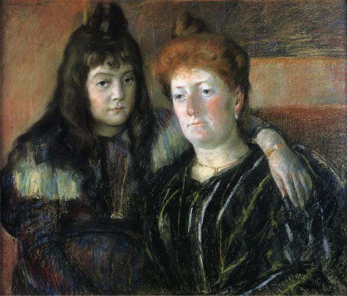 Madame Meerson and Her Daughter - Mary Cassatt