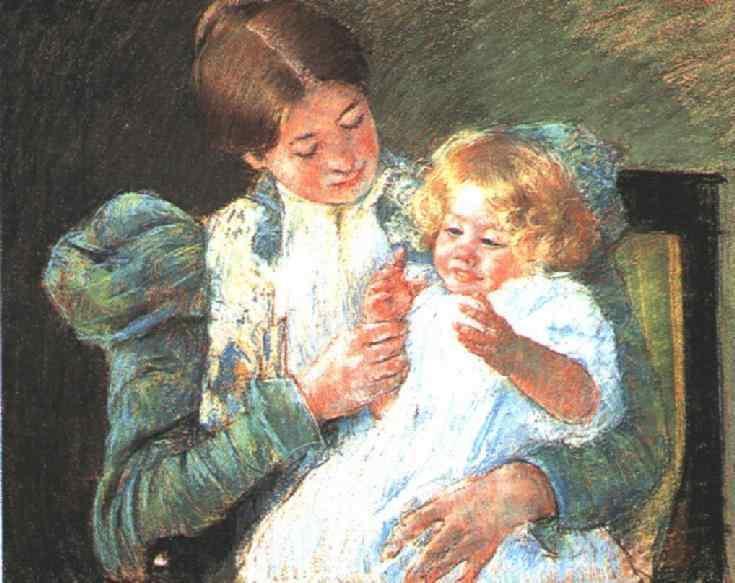 Pattycake, 1897 - Mary Cassatt