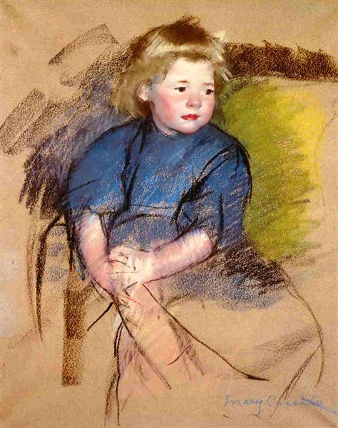 Portrait of a Young Girl (Simone), c.1903 - Mary Cassatt