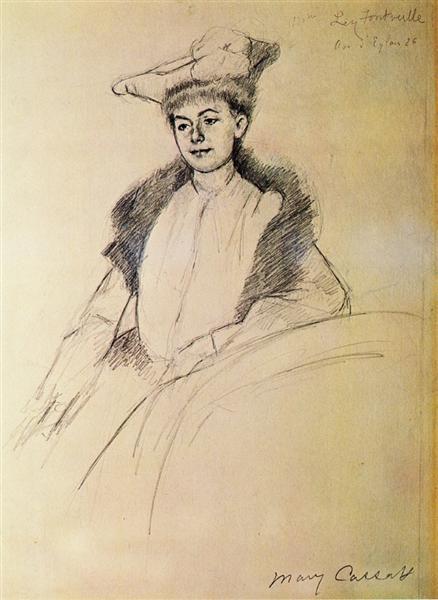 Portrait of Mme. Fontveille, 1902 - Mary Cassatt