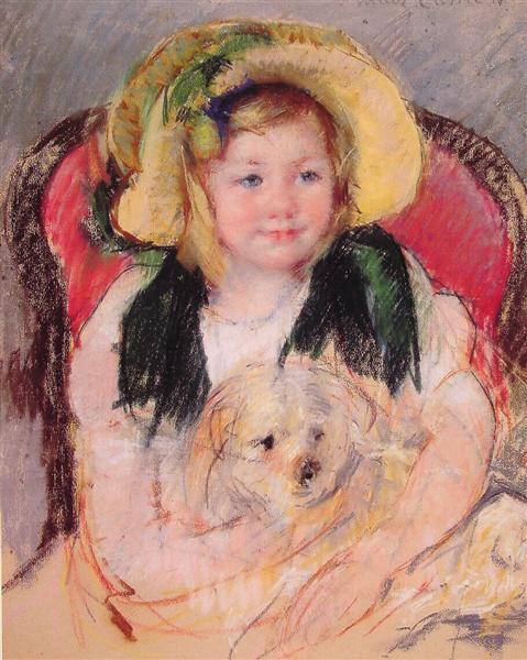 Sara with her dog, 1901 - Mary Cassatt