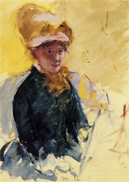 Self Portrait, c.1880 - Mary Cassatt