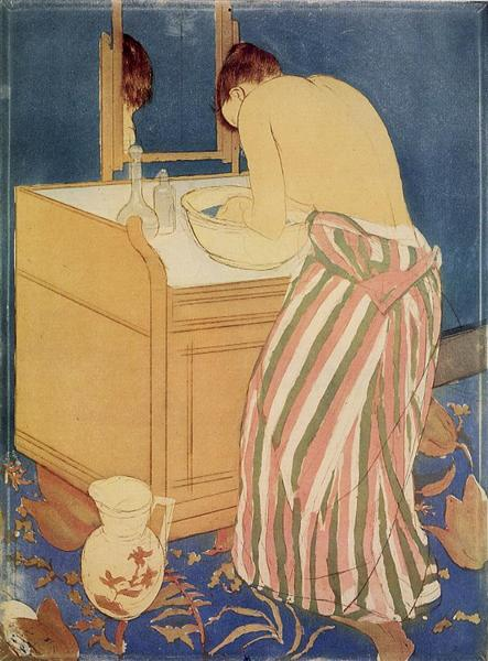 The Bath, 1890 - 1891 - Mary Cassatt