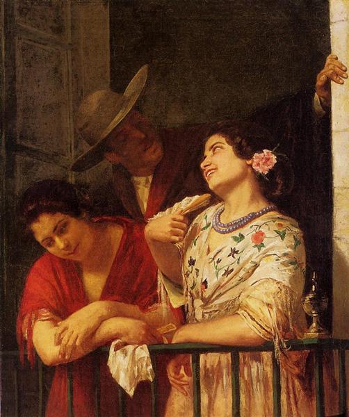 The Flirtation A Balcony in Seville, 1872 - Mary Cassatt