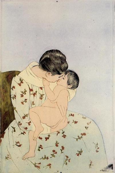 The Kiss, 1890 - 1891 - Mary Cassatt
