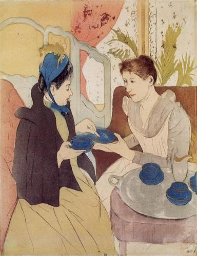 The Visit - Mary Cassatt