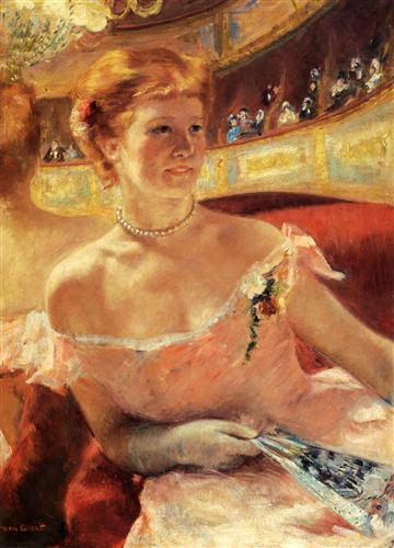 Woman with a Pearl Necklace - Mary Cassatt