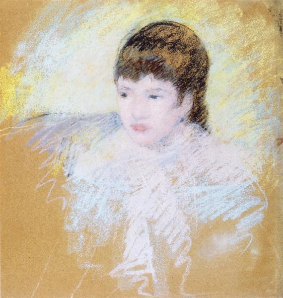 Young Girl with Brown Hair, c.1880 - 1886 - Mary Cassatt