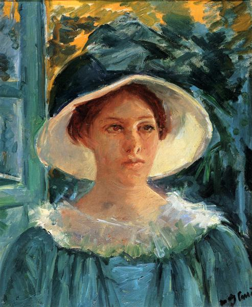 Young Woman In Green Outdoors In The Sun, c.1914 - Mary Cassatt