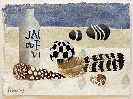 Feathers and Shells, 2001 - Mary Fedden
