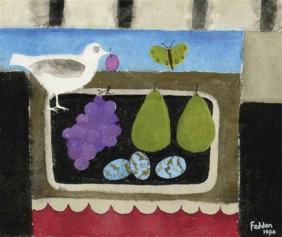 Three Eggs, 1994 - Mary Fedden