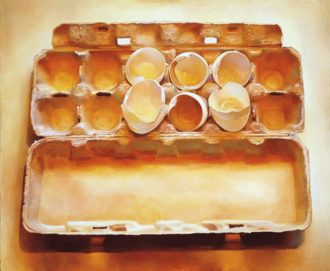Eggs in an Egg Crate, 1975 - Mary Pratt