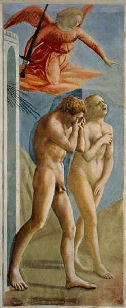 Adam and Eve banished from Paradise - Masaccio