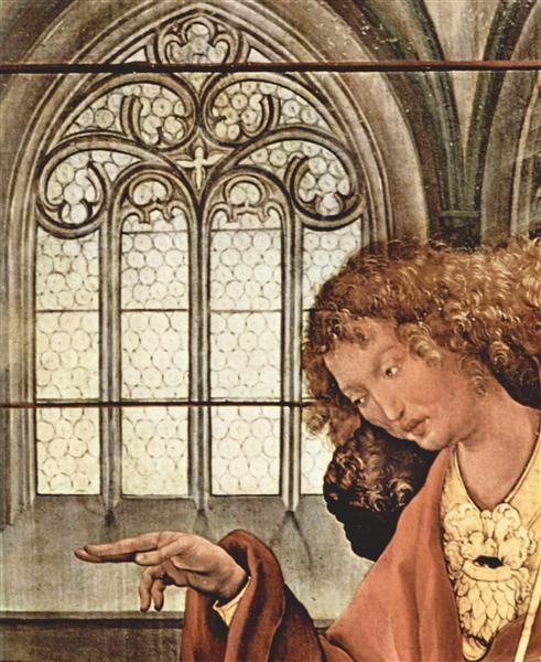 The Annunciation (detail), c.1515 - Matthias Grünewald