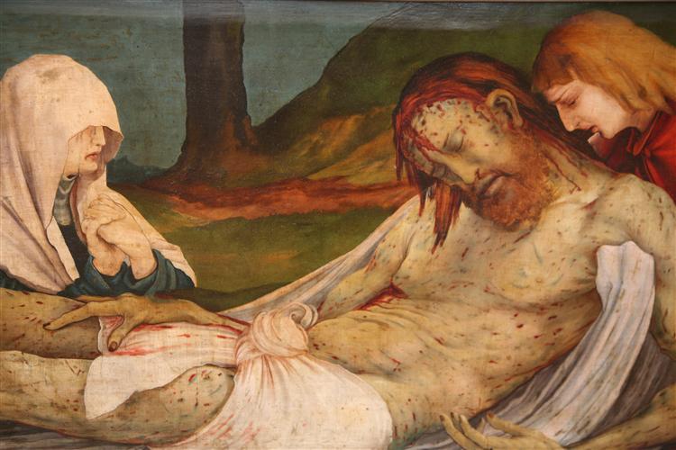 The Entombment (detail from the Isenheim Altarpiece), c.1512 - c.1516 - Matthias Grünewald