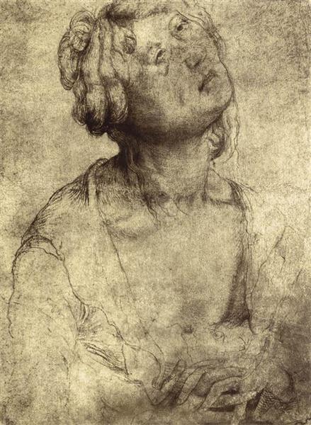 Woman with Open Robe, 1512 - 1514 - Matthias Grünewald