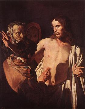 The Incredulity of St. Thomas - Matthias Stom