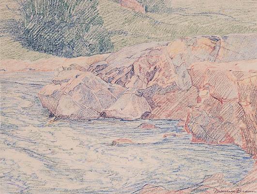 Rocks in a Stream, 1920
