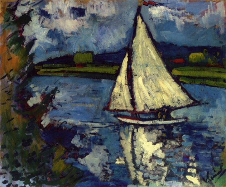 White Sailboat at Chatou, c.1907 - Maurice de Vlaminck