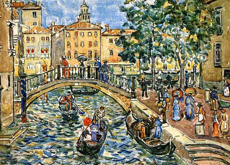 Scene of Venice, c.1911 - c.1912 - Морис Прендергаст