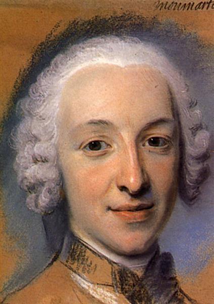 Preparation of the portrait of Joseph Amedee Victor Paris, son of John of Paris Montmartel - Maurice Quentin de La Tour