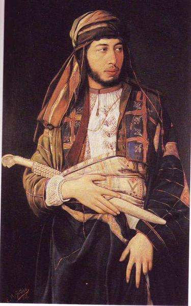 Self-Portrait in Arab Dress - Maurycy Gottlieb