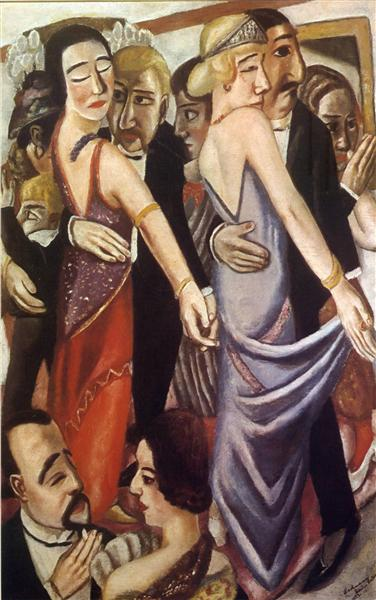 Dancing bar in Baden-Baden, 1923 - Max Beckmann