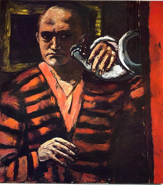Self-Portrait with Trumpet, 1938 - Max Beckmann