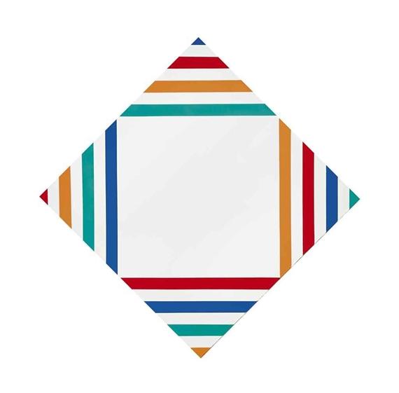 Vier gleiche farbgruppen im weissen feld, 1969 - Max Bill
