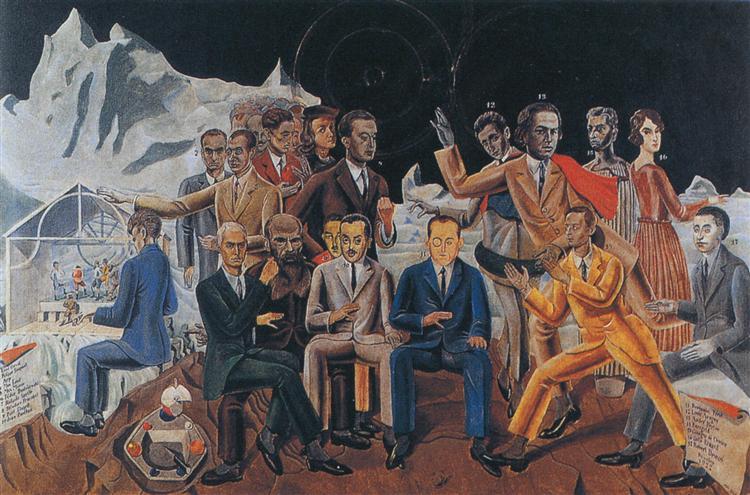A Friends' Reunion - Max Ernst