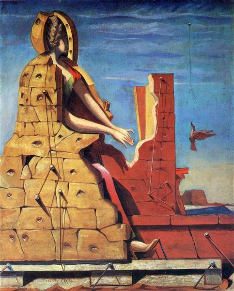 Saint Cecilia (Invisible piano), 1923 - Max Ernst