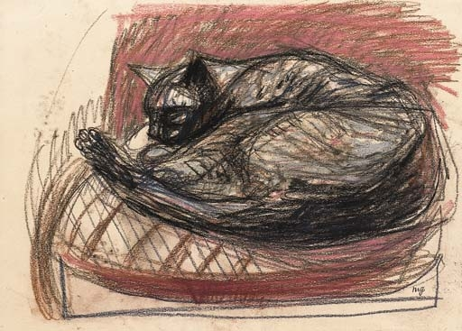 Sleeping Cat - Max Gubler