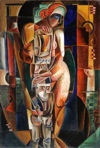 Nude with Idol, 1924 - M. H. Maxy