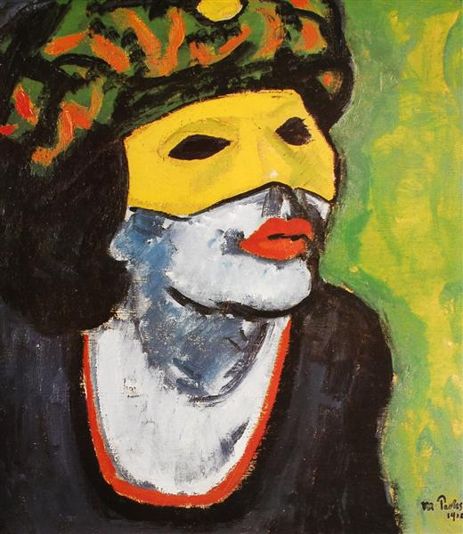 The Masked Woman, 1910 - Макс Пехштейн
