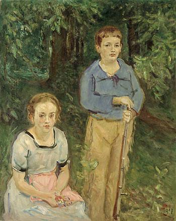 Portrait of Nina and Wolfgang Slevogt (Children in the Forest), 1917 - Max Slevogt