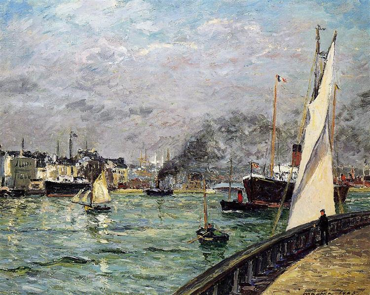 Departure of a Cargo Ship, 1905 - Maxime Maufra