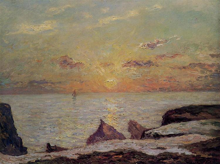 On the Cliffs of Belle Isle on Mer, 1913 - Maxime Maufra