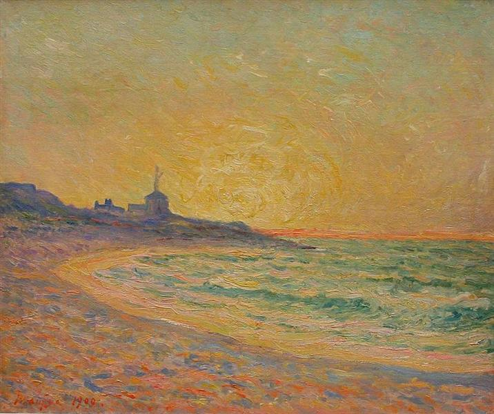 Semaphore of the Beg-Meil, Brittany, 1900 - Maxime Maufra