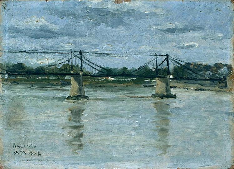 The old bridge in Ancenis, 1884 - Maxime Maufra
