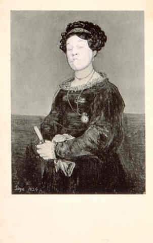 Ridiculous Portrait (Goya seated female), 1972 - May Wilson