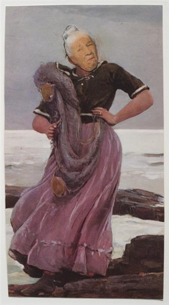 Ridiculous Portrait (Seashore), 1965 - May Wilson