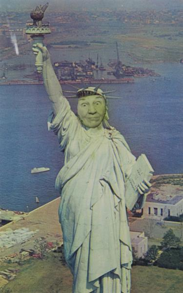 Ridiculous Portrait (Statue of Liberty), 1972 - May Wilson