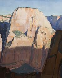Great White Throne, Zion Canyon, Utah, 1933 - Maynard Dixon