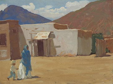 In Old Tucson - Maynard Dixon