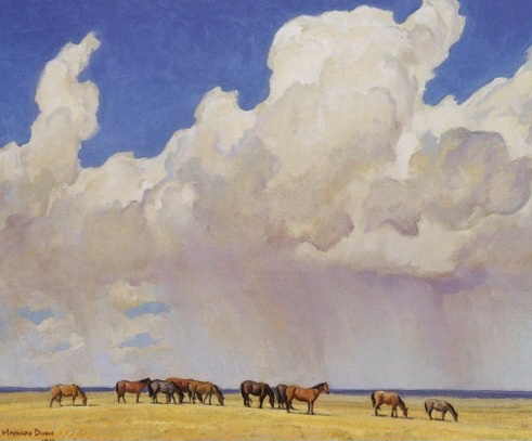 Prairie Shower, 1927 - Maynard Dixon