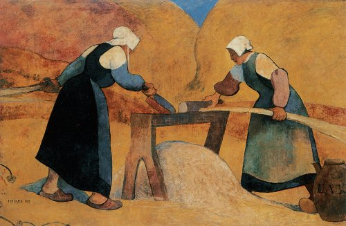 Breton women scutching flax: Labour, 1889 - Meijer de Haan
