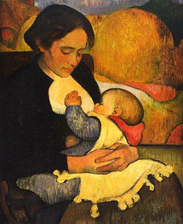 Maternity: Mary Henry Breastfeeding, 1890 - Meyer de Haan